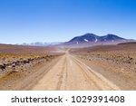 bolivian dirt road perspective... | Shutterstock . vector #1029391408