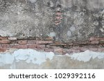 cracked concrete vintage wall... | Shutterstock . vector #1029392116