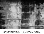 old block concrete wall black... | Shutterstock . vector #1029397282