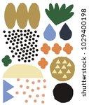 ornamental modern vector with... | Shutterstock .eps vector #1029400198