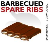 an image of a hot barbecued... | Shutterstock .eps vector #1029400402