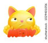 yellow emoji cartoon cat... | Shutterstock .eps vector #1029401056