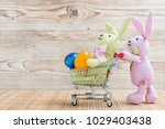 Easter Bunny With Shopping Car...