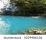 blue lake in abkhazia  which is ...   Shutterstock . vector #1029406126