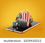 smartphone application for... | Shutterstock . vector #1029410212