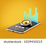 smartphone application for... | Shutterstock . vector #1029410215