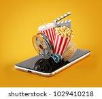 smartphone application for... | Shutterstock . vector #1029410218