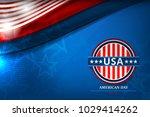 flag of usa background for... | Shutterstock .eps vector #1029414262
