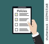 policies board company policy... | Shutterstock .eps vector #1029415168