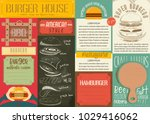 fast food drawn menu design.... | Shutterstock .eps vector #1029416062