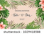 wedding card. invitation... | Shutterstock .eps vector #1029418588