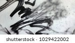 graffiti white grey black brick ... | Shutterstock . vector #1029422002