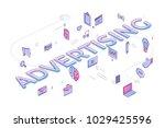 "flat design typography concept ""... | Shutterstock .eps vector #1029425596"