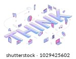 "flat design typography concept ""... | Shutterstock .eps vector #1029425602"