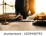male lawyer working with... | Shutterstock . vector #1029430792