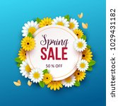 spring sale background with... | Shutterstock .eps vector #1029431182