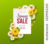 spring sale background with... | Shutterstock .eps vector #1029431242