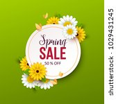 spring sale background with... | Shutterstock .eps vector #1029431245