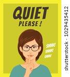 beautiful girl wearing glasses... | Shutterstock .eps vector #1029435412