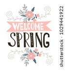 spring greeting card with a... | Shutterstock .eps vector #1029441922