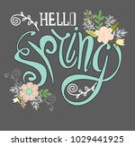 spring greeting card with a... | Shutterstock .eps vector #1029441925
