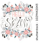 spring greeting card with a... | Shutterstock .eps vector #1029442045