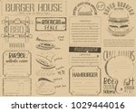 fast food vintage menu design.... | Shutterstock .eps vector #1029444016
