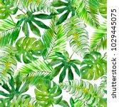 watercolor seamless pattern... | Shutterstock . vector #1029445075