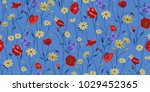 seamless floral pattern in... | Shutterstock .eps vector #1029452365
