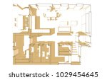 house plan architectural... | Shutterstock . vector #1029454645