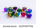 colorful glass beads background | Shutterstock . vector #1029459706