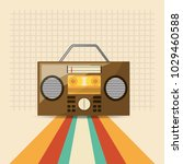 retro music design | Shutterstock .eps vector #1029460588