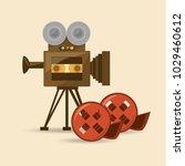 retro videocamera design | Shutterstock .eps vector #1029460612