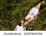 couple of beautiful young girls ... | Shutterstock . vector #1029464146