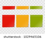 vector realistic colorful memo... | Shutterstock .eps vector #1029465106