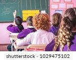 school children are... | Shutterstock . vector #1029475102