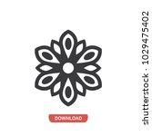 aquatic flower vector icon | Shutterstock .eps vector #1029475402