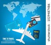travel banner design. vacation... | Shutterstock .eps vector #1029487486