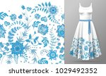 vector seamless pattern of hand ... | Shutterstock .eps vector #1029492352