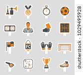 soccer and football icon... | Shutterstock .eps vector #1029495928