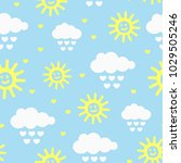 cute seamless pattern with... | Shutterstock .eps vector #1029505246