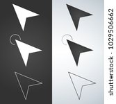 arrow cursors symbol icons set. ... | Shutterstock .eps vector #1029506662