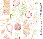 vector seamless pattern  with... | Shutterstock .eps vector #1029507622