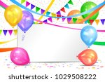 happy birthday design.... | Shutterstock .eps vector #1029508222
