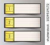 classic light box for the films ... | Shutterstock .eps vector #1029519172