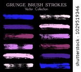 watercolor  ink or paint brush... | Shutterstock .eps vector #1029519346