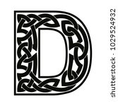letter of the english alphabet... | Shutterstock .eps vector #1029524932
