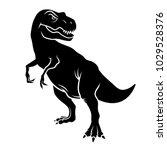dinosaur silhouette. vector... | Shutterstock .eps vector #1029528376