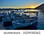 greece view on the harbor in... | Shutterstock . vector #1029530362