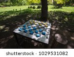 chessboard in a spring park...